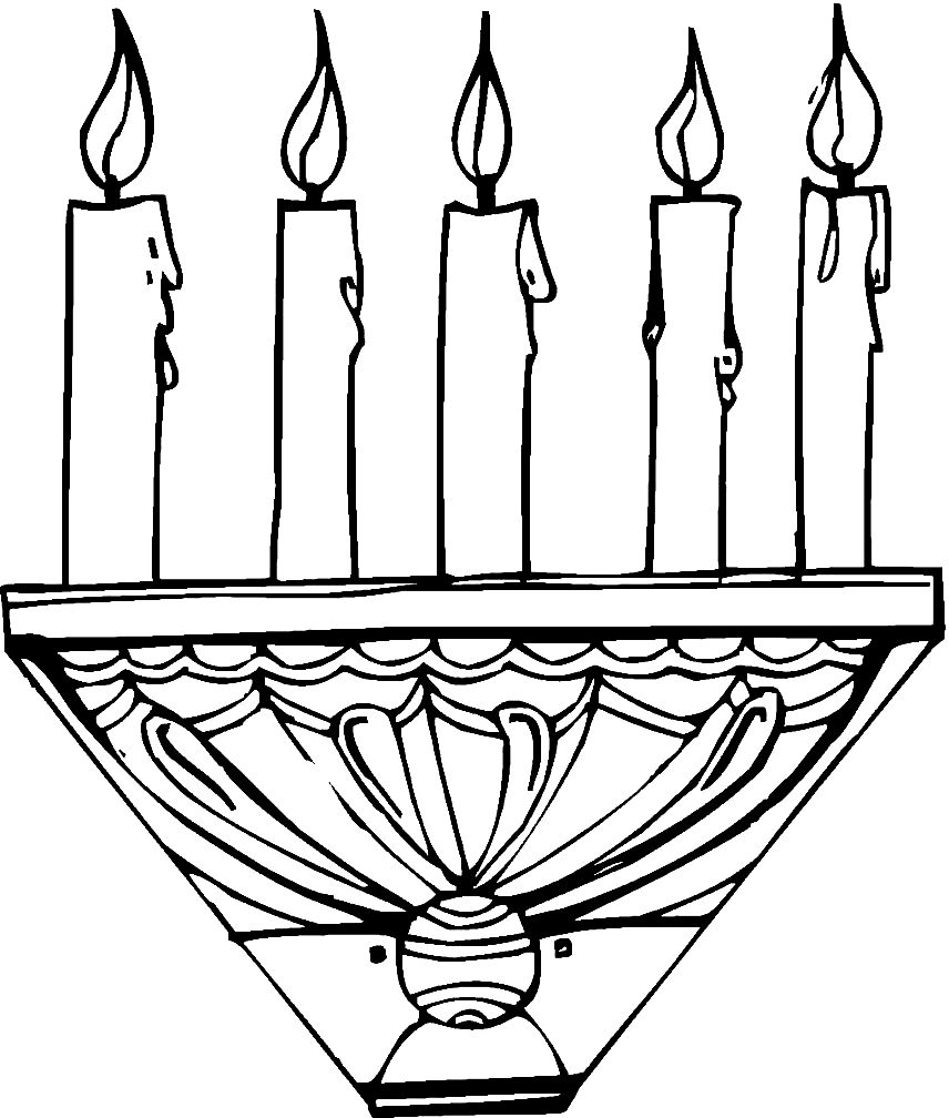 candlestick coloring page