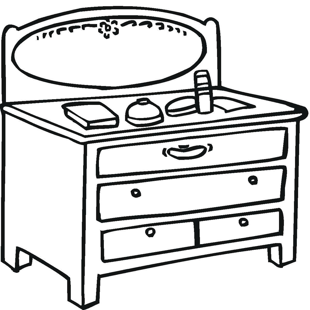 Coloring pages kitchen - Kitchen Table Coloring Page Kitchen Safety Coloring Page