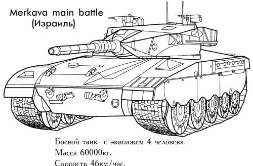 Раскраска Меркава (Merkava Main Battle)