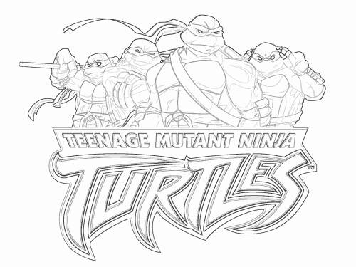 Раскраска Teenage Mutant Ninja Turtles